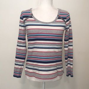 ANTHROPOLOGIE - STRIPED SHIRT SIZE X-SMALL